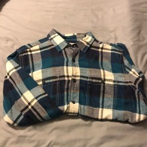 Flannel Shirt - Blue / White - Size Large